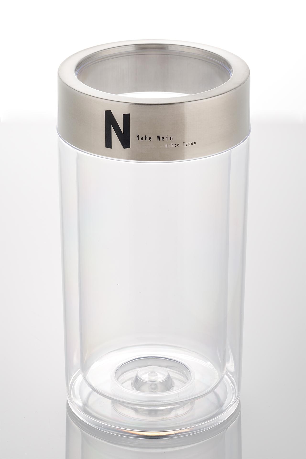 Flaschenkühler mit eingraviertem Logo